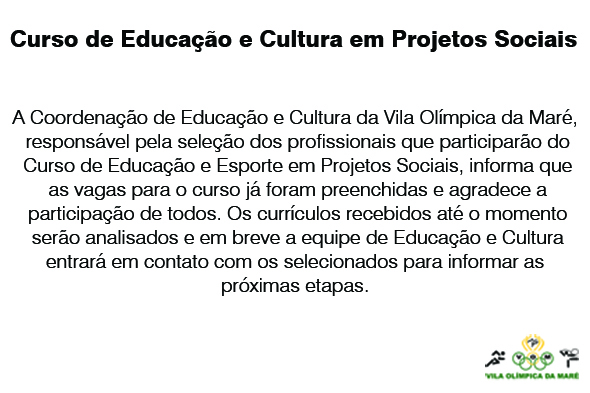 informe curso educacao e cultura